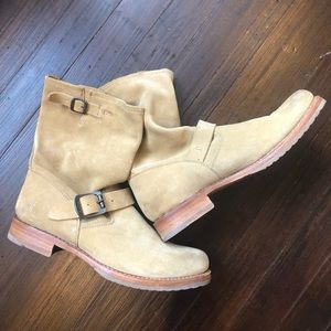 FRYE Leather Suede Moto Boots in Size 10